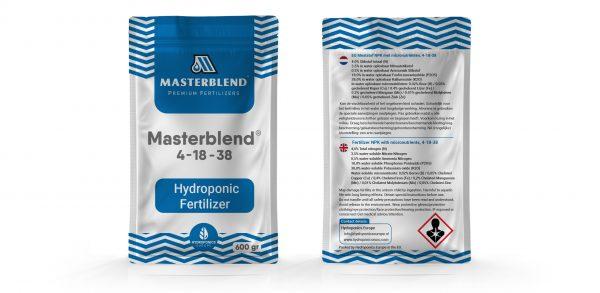 Masterblend 4-18-38 bag sachet hydroponics fertilizer plants micronutrients nutrients